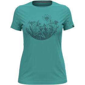 Odlo Kumano Print T-Shirt S / S Crew Neck Damer, turkis